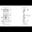 GEBERIT Duofix Sigma fali WC szerelőelem 111.300.00.5