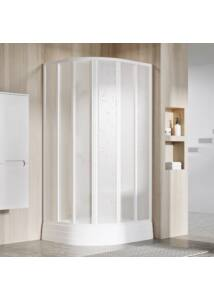 RAVAK SUPERNOVA SKKP6-90 hatelemes, negyedköríves tolórendszerű zuhanykabin (grape)