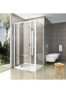 RAVAK PPS-90 zuhanyfal (fényes alumínium + transparent)