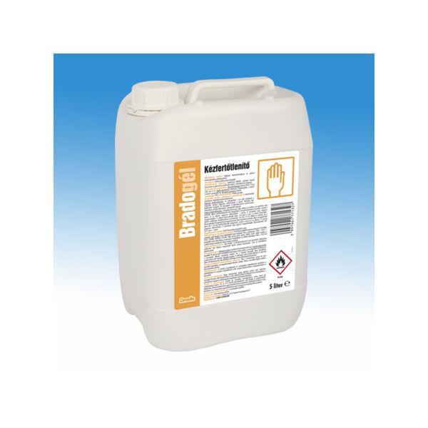 B&K Bradogél alkoholos gél állagú kézfertőtlenítőszer 5L-es kiszerelésben, baktericid, szelektív virucid (burkos vírusokra)