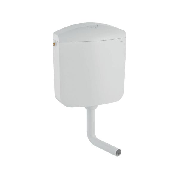 Geberit AP117 falon kívüli öblítőtartály, 2 mennyiséges öblítés, vízcsatlakozás oldalról vagy hátulról középen