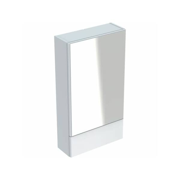 Geberit Selnova Square tükrös szekrény egy ajtóval és egy felnyíló ajtóval 500.155.01.1
