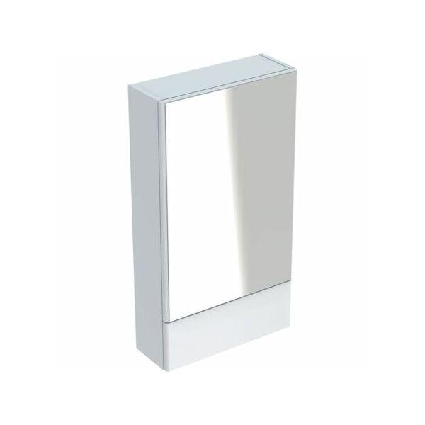 Geberit Selnova Square tükrös szekrény egy ajtóval és egy felnyíló ajtóval 500.157.01.1