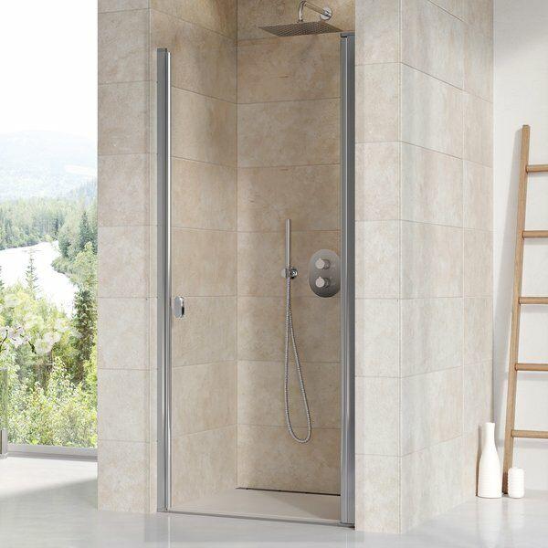 RAVAK CSD1-90 egyrészes, nyíló zuhanyajtó (fényes keret, átlátszó üveg)