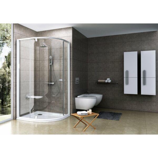 RAVAK Pivot PSKK3 háromrészes negyedköríves kifelé nyíló zuhanysarok 90 -es 37677100Z1